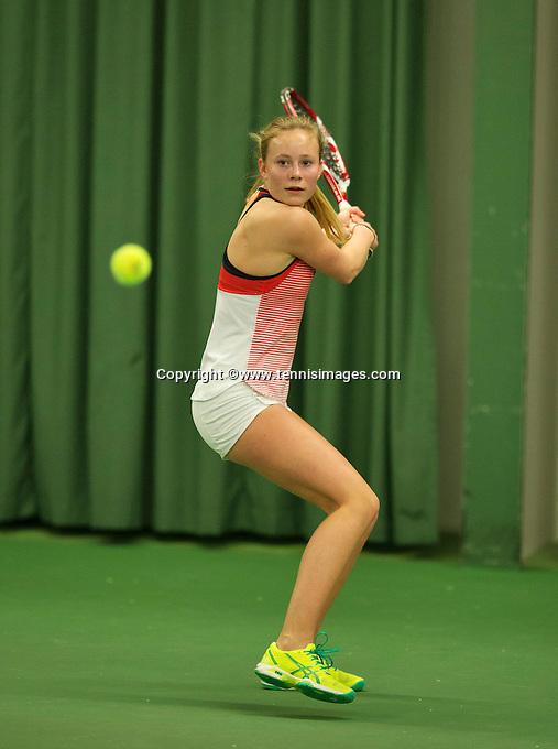 Rotterdam, The Netherlands, March 11, 2016,  TV Victoria, , NOJK 12/16 years, Daphne Haverkamp<br /> Photo: Tennisimages/Henk Koster