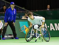 Februari 14, 2015, Netherlands, Rotterdam, Ahoy, ABN AMRO World Tennis Tournament,  Final wheelchair men Gustavo Fernandez (ARG)<br /> Photo: Tennisimages/Henk Koster