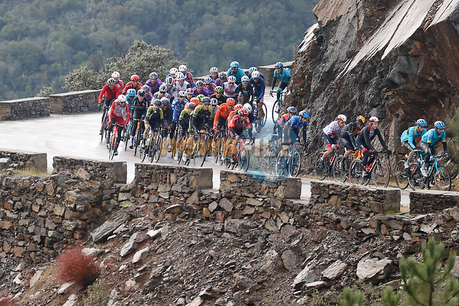 Part of the 34 man breakaway group during Stage 17 of the Vuelta Espana 2020, running 178.2km from Sequeros to Alto de la Covatilla, Spain. 7th November 2020. <br /> Picture: Luis Angel Gomez/PhotoSportGomez | Cyclefile<br /> <br /> All photos usage must carry mandatory copyright credit (© Cyclefile | Luis Angel Gomez/PhotoSportGomez)