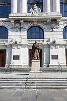 French Quarter, New Orleans, Louisiana.  Supreme Court of Louisiana.  Statue of Edward Douglas White.
