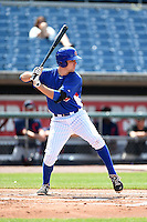 Ryan Karstetter (29) of Port Matilda, Pennslyvania and IMG Academy in Bradenton, Florida playing for the Chicago Cubs scout team during the East Coast Pro Showcase on July 31, 2014 at NBT Bank Stadium in Syracuse, New York.  (Mike Janes/Four Seam Images)