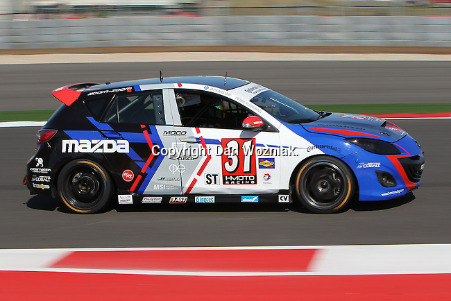 Pierre Kleinubing (31) in action during the Continental Tire Challenge race at the Circuit of the Americas race track in Austin,Texas...