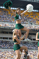 16 September 2006: Michigan State cheerleaders..The Michigan State Spartans defeated the Pitt Panthers 38-23 on September 16, 2006 at Heinz Field, Pittsburgh, Pennsylvania.