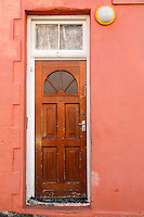 South Africa, Cape Town, Bo-kaap.  Door to Private Residence.