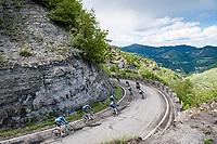 team Astana - Premier Tech descending the Passo Della Calla<br /> <br /> 104th Giro d'Italia 2021 (2.UWT)<br /> Stage 12 from Siena to Bagno di Romagna (212km)<br /> <br /> ©kramon