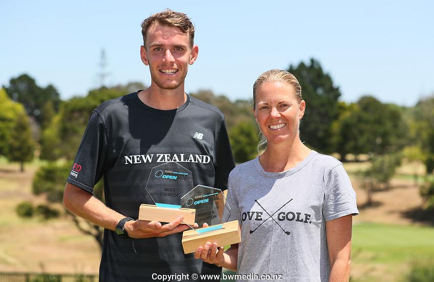 Jamie Reid and Liz McKinnon. NZ Speedgolf Open, Whitford Park Golf Club, Whitford, Auckland, New Zealand. Photo: Simon Watts/www.bwmedia.co.nz/NZGolf
