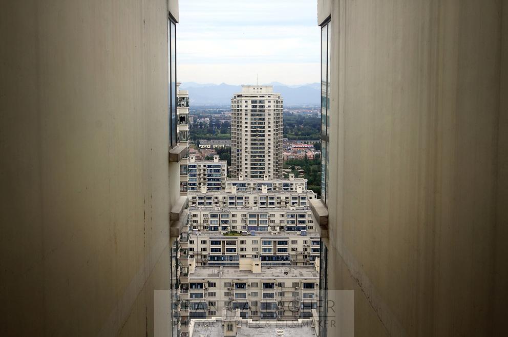 CHINA. Beijing. Apartment blocks in the Tiantongyuan suburb north of Beijing.2009