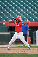 Lewys Guzman (6) during the Dominican Prospect League Elite Underclass International Series, powered by Baseball Factory, on August 2, 2017 at Silver Cross Field in Joliet, Illinois.  (Mike Janes/Four Seam Images)