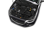 Car Stock 2018 Mazda Mazda3 Grand-Touring 5 Door Hatchback Engine  high angle detail view