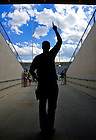 Fans tour the Notre Dame Stadium tunnel before the season opener against Purdue, Sept. 3, 2010...Photo by Matt Cashore/University of Notre Dame