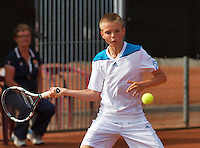 August 6, 2014, Netherlands, Rotterdam, TV Victoria, Tennis, National Junior Championships, NJK, Frank Jonker (NED) <br /> Photo: Tennisimages/Henk Koster
