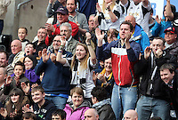 Saturday, 29 March 2014<br /> Pictured: Swansea supporters<br /> Re: Barclay's Premier League, Swansea City FC v Norwich City at the Liberty Stadium, south Wales, UK.