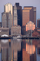 harbor skyline sunrise from East Boston, MA
