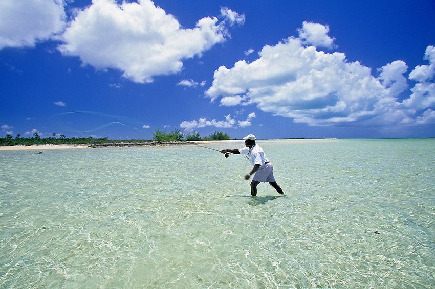Fly fishing the flats on Cat Island