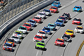 Monster Energy NASCAR Cup Series<br /> GEICO 500<br /> Talladega Superspeedway, Talladega, AL USA<br /> Sunday 7 May 2017<br /> Kyle Busch, Joe Gibbs Racing, Skittles Red, White, & Blue Toyota Camry, Brad Keselowski, Team Penske, Fitzgerald Glider Kits Ford Fusion and Clint Bowyer, Stewart-Haas Racing, Haas Automation Demo Days Ford Fusion<br /> World Copyright: Nigel Kinrade<br /> LAT Images<br /> ref: Digital Image 17TAL1nk05689