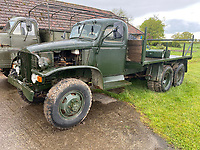 BNPS.co.uk (01202) 558833. <br /> Pic: Symonds&Sampson/BNPS<br /> <br /> Pictured: The sale includes these two military trucks. <br /> <br /> A cache of more than 38 classic cars, lorries, motorcycles and tractors spanning six decades are up for auction after being found in a barn belonging to a collector. <br /> <br /> The collection includes Fords imported from America, original two-door Range Rovers and an MG MGA sports car which can sell for more than £50,000 when fully restored. <br /> <br /> The cars are being sold by auctioneers on behalf of the beneficiaries of the recently deceased classic car enthusiast Kelvin Pike, in an online-only auction which ends on Tuesday (June 15).