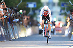 2021 UEC Road Cycling European Championships. Trento, Italy on September 9, 2021. Men Elite Individual Time Trial, Stefan KUNG (SUI) cross the finish lline.