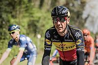 Belgian Champion Philippe Gilbert (BEL/Quick Step floors) back in the pack for the first time since his Ronde Van Vlaanderen win 10 days earlier.<br /> <br /> 57th Brabantse Pijl - La Flèche Brabançonne (1.HC)<br /> 1 Day Race: Leuven › Overijse (197km)