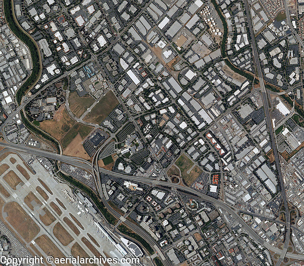 aerial photo map of north San Jose, California