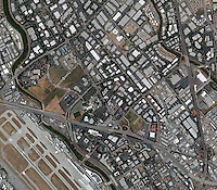 aerial photo map of north San Jose, California