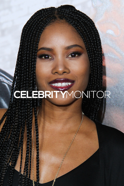 """HOLLYWOOD, CA - JANUARY 13: Jasmine Burke at the Los Angeles Premiere Of Universal Pictures' """"Ride Along"""" held at the TCL Chinese Theatre on January 13, 2014 in Hollywood, California. (Photo by David Acosta/Celebrity Monitor)"""