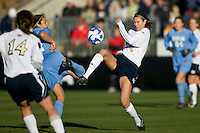 Notre Dame Fighting Irish defender Haley Ford (8). The North Carolina Tar Heels defeated the Notre Dame Fighting Irish 2-1 during the finals of the NCAA Women's College Cup at Wakemed Soccer Park in Cary, NC, on December 7, 2008. Photo by Howard C. Smith/isiphotos.com