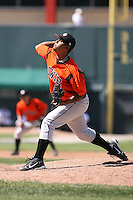 April 22nd, 2007:  Felix Romero of the Bowie Baysox, Class-AA affiliate of the Baltimore Orioles at Jerry Uht Park in Erie, PA.  Photo by:  Mike Janes/Four Seam Images