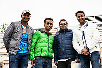 Indian fans still smiling despite the heavy rain and no play during India vs New Zealand, ICC World Test Championship Final Cricket at The Hampshire Bowl on 18th June 2021
