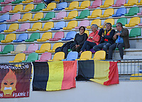 20200304  Parchal , Portugal : Belgian fans and supporters pictured during the female football game between the national teams of New Zealand , known as the Football Ferns and Belgium called the Red Flames on the first matchday of the Algarve Cup 2020 , a prestigious friendly womensoccer tournament in Portugal , on wednesday 4 th March 2020 in Parchal , Portugal . PHOTO SPORTPIX.BE | DAVID CATRY