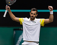 Rotterdam, The Netherlands,7 march  2021, ABNAMRO World Tennis Tournament, Ahoy,  <br /> Doubles final: Nikola Mektic (CRO) vs. Mate Pavic (CRO) win.<br /> Photo: www.tennisimages.com/henkkoster