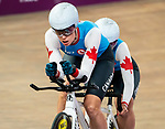 Lima, Peru -  26/August/2019 - Meghan Lemiski and Carla Shibley compete in women's individual pursuit B in track cycling at the Parapan Am Games in Lima, Peru. Photo: Dave Holland/Canadian Paralympic Committee.