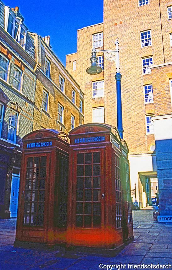 London: Shepherd's Market, Mayfair. Phone Booths.