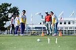 Golf Clinic during the day one of UBS Hong Kong Open 2017 at the Hong Kong Golf Club on 23 November 2017, in Hong Kong, Hong Kong. Photo by Marcio Rodrigo Machado / Power Sport Images