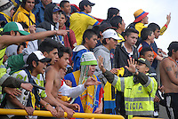 TUNJA -COLOMBIA, 27-07-2013. Aspecto del encuentro entre Boyacá Chicó y Patriotas en la fecha 1 Liga Postobón II 2013 realizado en el estadio La Independencia en Tunja./ Aspect of match between Boyaca Chico and Patriotas during 1th date of Postobon  League 2013-1 at La Libertad stadium in Tunja. Photo: VizzorImage/Jose Palencia/STR