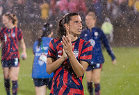 EAST HARTFORD, CT - JULY 1: Tobin Heath #7 of the USWNT walks the field during a game between Mexico and USWNT at Rentschler Field on July 1, 2021 in East Hartford, Connecticut.
