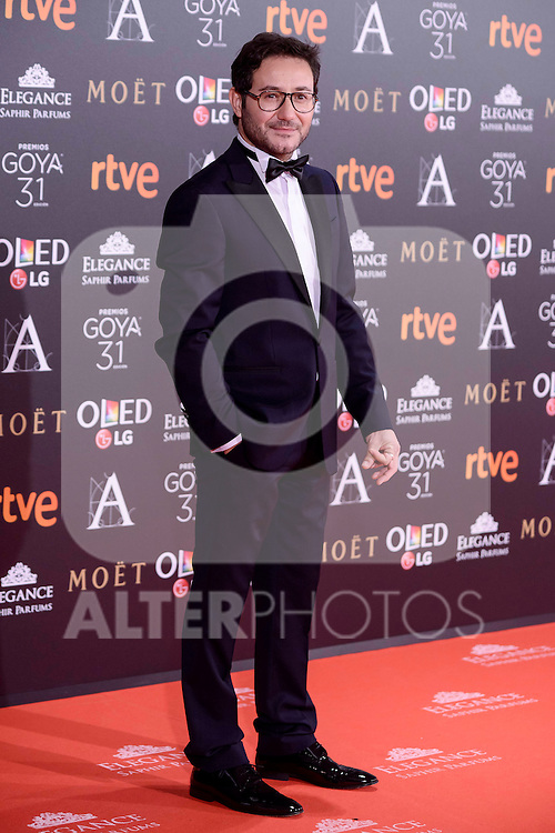 Carlos Santos attends to the Red Carpet of the Goya Awards 2017 at Madrid Marriott Auditorium Hotel in Madrid, Spain. February 04, 2017. (ALTERPHOTOS/BorjaB.Hojas)