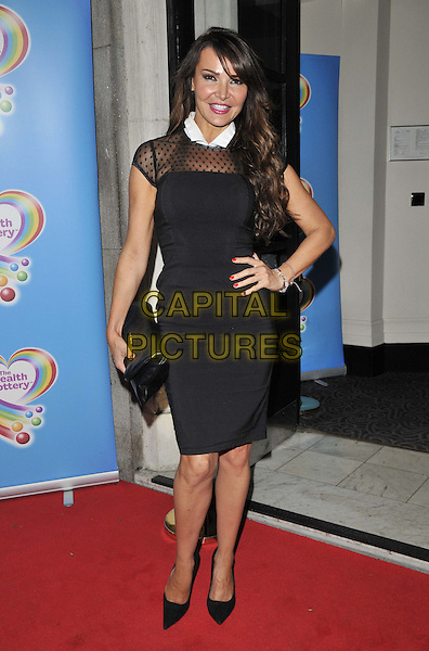 LONDON, ENGLAND - JUNE 02: Lizzie Cundy attends the Health Lottery VIP tea party, The Savoy Hotel, The Strand, on Monday June 02, 2014 in London, England, UK.<br /> CAP/CAN<br /> ©Can Nguyen/Capital Pictures