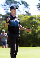 Daniel Hillier celebrates winning the final. Final day of the Jennian Homes Charles Tour / Brian Green Property Group New Zealand Super 6s at Manawatu Golf Club in Palmerston North, New Zealand on Sunday, 8 March 2020. Photo: Dave Lintott / lintottphoto.co.nz