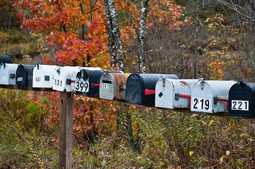 Rural mailboxes.