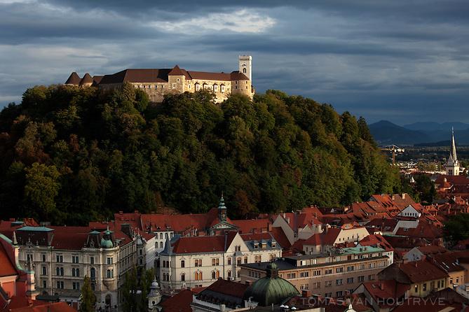 A view of Ljubljana Castle and the city of Ljubljana, Slovenia on Sept. 20, 2011.