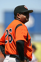 April 22nd, 2007:  Bien Figueroa of the Bowie Baysox, Class-AA affiliate of the Baltimore Orioles at Jerry Uht Park in Erie, PA.  Photo by:  Mike Janes/Four Seam Images