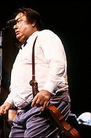 Raymond Devos<br />  au Festival Juste Pour Rire, 10 juillet 1987<br /> <br /> PHOTO D'ARCHIVE : Agence Quebec Presse