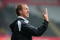 Swansea City manager Graham Potter in action during the Sky Bet Championship match between Swansea City and Preston North End at the Liberty Stadium, Swansea, Wales, UK. Saturday 11 August 11 2018