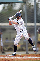 Western Connecticut Colonials right fielder Dave Palladino (5) at bat during the first game of a doubleheader against the Edgewood College Eagles on March 13, 2017 at the Lee County Player Development Complex in Fort Myers, Florida.  Edgewood defeated Western Connecticut 3-0.  (Mike Janes/Four Seam Images)
