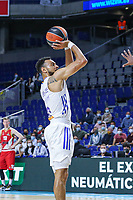 13th October 2021; Wizink Center; Madrid, Spain; Turkish Airlines Euroleague Basketball; game 3; Real Madrid versus AS Monaco;  Nigel Williams-Goss (Real Madrid Baloncesto) takes with a jump shot