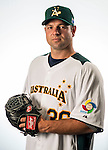 Brad Thomas of Team Australia poses during WBC Photo Day on February 25, 2013 in Taichung, Taiwan. Photo by Andy Jones / The Power of Sport Images