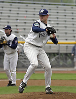 April 21, 2004:  Jake Upwood of the Fort Wayne Wizards, Midwest League (Low-A) affiliate of the San Diego Padres, during a game at Memorial Stadium in Fort Wayne, IN.  Photo by:  Mike Janes/Four Seam Images