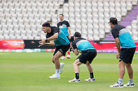 Tim Southee, New Zealand takes the slip catch in practice during a training session ahead of the ICC World Test Championship Final at the Hampshire Bowl on 17th June 2021