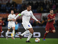 Football Soccer: UEFA Europa League round of 32 first leg AS Roma vs KAA Gent, Olympic stadium, Rome, 20 February, 2020.<br /> Gent's captain Vadis Odjidja in action during the Europa League football match between Roma and Gent at the Olympic stadium in Rome on 20 February, 2020.<br /> UPDATE IMAGES PRESS/Isabella Bonotto