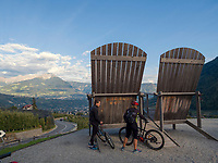 Thronsessel bei Parkplatz Töll, Oberplars, Algund bei Meran, Region Südtirol-Bozen, Italien, Europa<br /> Throne Chairs near parking Töll, Oberplars, Lagundo near Merano, Region South Tyrol-Bolzano, Italy, Europe